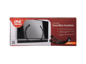 NY! ONE FOR ALL Universal Soundbar (Fäste)Brackets Invisible passar TV 32-70 tum