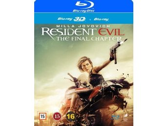 Resident Evil The Final Chapter 3D+Blu-ray - Ny & Inplastad!