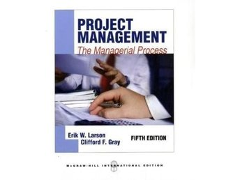 Project Management The Managerial Process av Erik W Larson 9780071289290