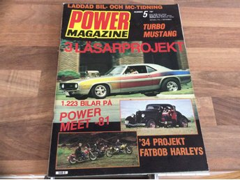 POWER Nr 5 1981 Turbo Mustang,Fatbob Harleys HD,Ford Custom,Shelby GT 350 projek