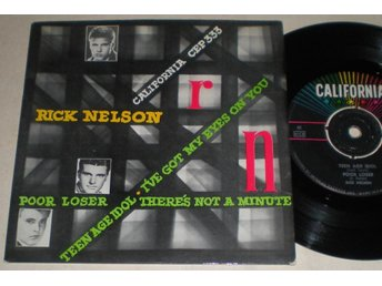 Ricky Nelson EP/PS Teen age idol 1961