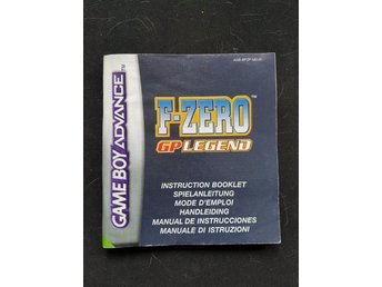 Manual F-Zero ,gp legend.