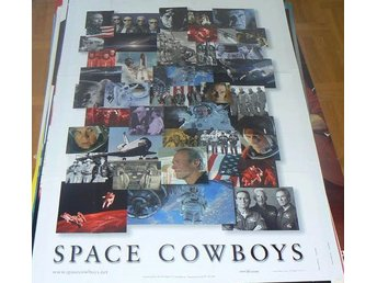 "CLINT EASTWOOD ""SPACE COWBOYS"", 70 x 100 cm, bildkollage ur filmen"