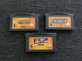 3st Tony Hawk spel THPS, American sk8land, GBA Game boy advance