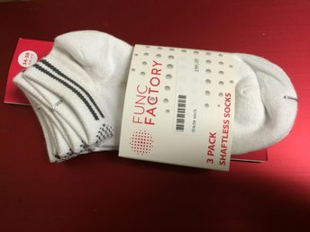 Nya strumpor func factory 3 pack shaftless  socks (dam & herr)