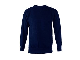 Mens Sweatshirt Plain Fleece Sweat Top Pullover Round Neck Jumpers Work Jersey