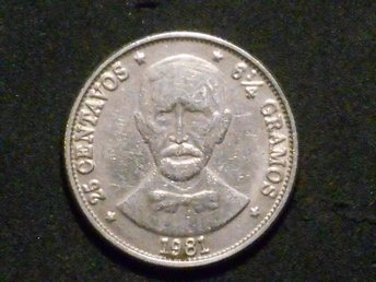 REPUBLICA DOMINICANA 25 CENTAVOS 1981