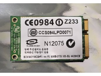 HP Broadcom WLAN Mini PCI Express 802.11 a/b/g, BCM94311MCGHP3, 441090-002