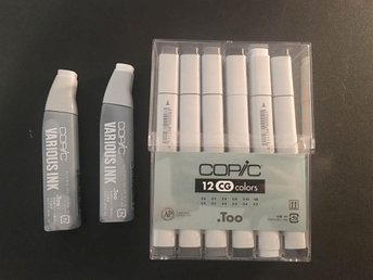 Copic markers cool gray 12-pack + påfyllning