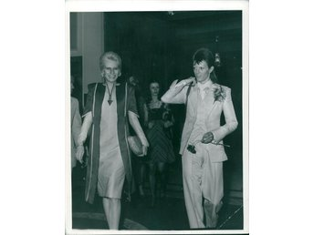 David and Angie Bowie - Bowie´s farewell party in London 1973 - Foto i A4-format