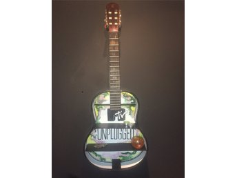 Handgjord hylla MTV Unplugged, unik, Nirvana, Alice in Chains, Grunge, Gitarr