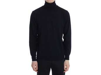 MILA SCHÖN - Blue Wool Turtleneck Pullover Sweater
