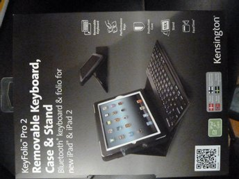 KeyFolio Pro2 Keyboard Case & Stand for iPad / iPad2 Helt ny