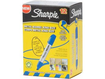 Sharpie King Size permanent marker, Blå, 12-pack