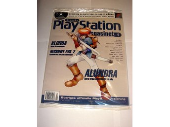 PLAYSTATION Mag 4  NY CD  4/1998  ALUNDRA  I ORIGINALPLAST