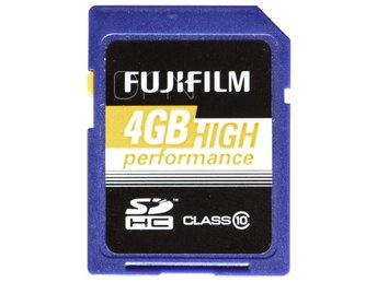 Fujifilm 4GB SDHC Kort High Performance / Class 10