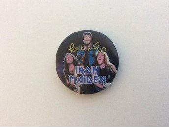 PIN  IRON MAIDEN MÄRKE NÅL ROCK IN RIO HÅRDROCK