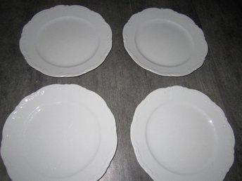 3x tallrikar MITTERTEICH klassisk vit design tyskt BAVARIA middagstallrik - Kalix - 3x tallrikar MITTERTEICH klassisk vit design tyskt BAVARIA middagstallrik - Kalix