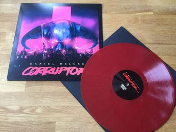 LP: Daniel Deluxe - Corruptor (2016 RÖD skiva synthwave limited edition)