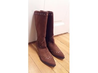 Cowboy boots stövlar western mocka nya från Sko Uno stl 40 - Stockholm - Cowboy boots stövlar western mocka nya från Sko Uno stl 40 - Stockholm