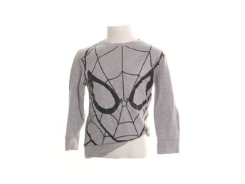 Spiderman, Sweatshirt, Strl: 5/6, Grå