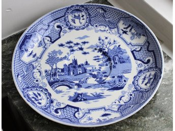 ~~ SPODE Blue Room Collection Gothic Castle stort TEFAT ~~