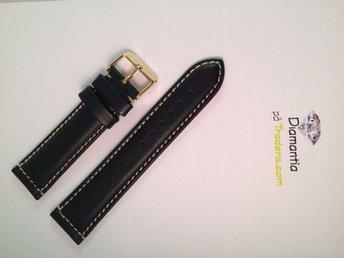 22 mm -- NYTT -- klockarmband i äkta läder -- Svart -- skinn armband brunt - Boliden - 22 mm -- NYTT -- klockarmband i äkta läder -- Svart -- skinn armband brunt - Boliden