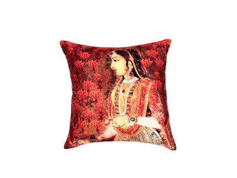 Pillow cover Indian Girl Orange Shade