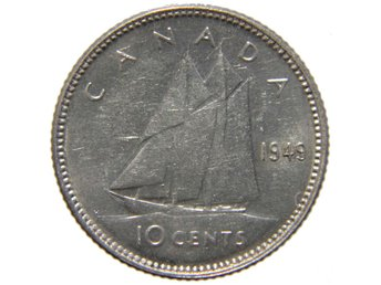 ?Canada 10 cents 1949