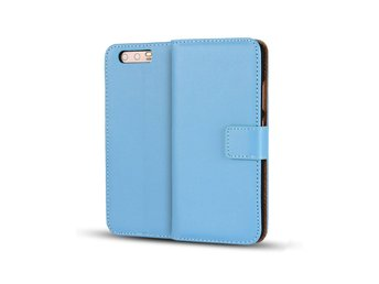 Huawei P10 genuine split leather flip case - Blue