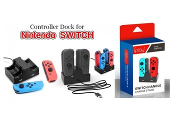 Nintendo Switch Joy-con Controller Charging Charger Dock 4 Seats 2 USB Outlets