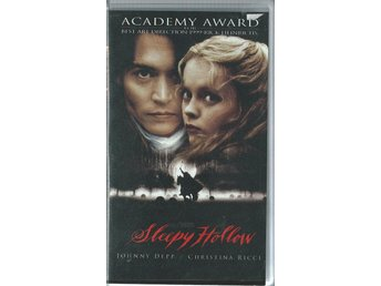 SLEEPY HOLLOW - JOHNNY DEPP  (SVENSKT-VHS FILM !!)