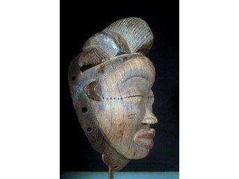 Mask från Punufolket i Gabon i Afrika 28 cm - Vingåker - Mask från Punufolket i Gabon i Afrika 28 cm - Vingåker