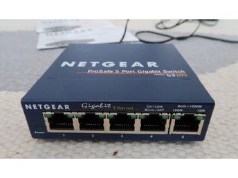 Netgear GS105GE Gigabit switch 5-portars