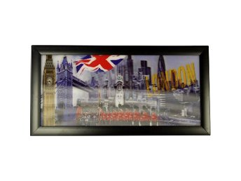 Inramade 3D Ikoniska Tryck HD London Pictures Vägghängningar Hem Art Decor Gift