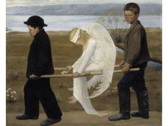 Zeit4art HUGO SIMBERG Haavoittunut enkeli The Wounded Angel 80x80cm