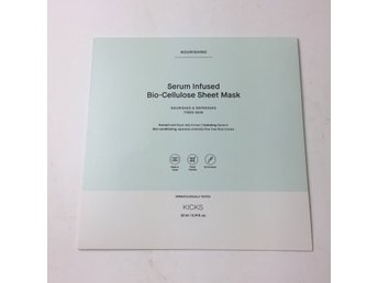 Kicks, Ansiktsmask, Strl: 22 ml, Serum IInfused Bio-Cellulose Sheet Mask