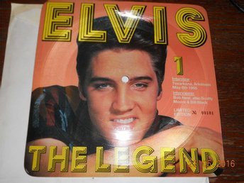 ELVIS THE LEGEND 1 - Intervjuskiva Limited Edition fyrkantig EP bildskiva