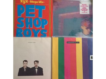 Pet Shop Boys 4 LP fint skick Introspective Actually Disco Mega Mix