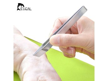 FHEAL 1pc Stainless Steel Fish Bone Tweezers Pincer Clip Puller Remover Tongs