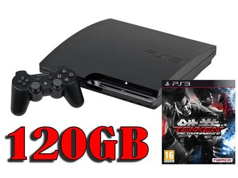 "- Playstation 3 Slim ""FIGHTING PAKET"" 120GB Inkl. 1 HK samt 1 Spel! -"