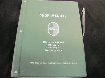 Shop Manual OPEL Olympia Rekord Caravan Delivery Van