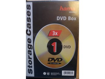 HAMA DVD-Box Slim Svart 3-pack