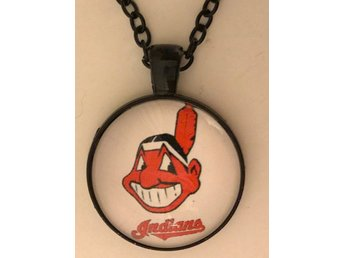 Cleveland Indians baseboll glas halsband HELT NY Major League Baseball cabochon