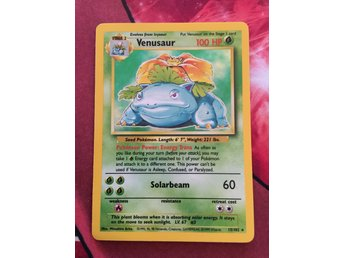 VENUSAUR HOLO BASE SET POKEMONKORT POKEMON KORT
