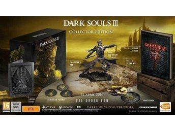 Javascript är inaktiverat. - Nynäshamn - Dark Souls 3 III Collectors Edition PS4 spel NYTT och INPLASTAT Skickas när jag ser pengarna på mitt personkonto i Nordea. Se även mina andra auktioner för eventuell samfrakt. Jag kan invänta lön, bidrag o dylikt. - Nynäshamn