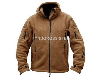 Fleecejacka Herr Military Outdoor Thermal Coyote Brown Strlk L Fri Frakt Ny
