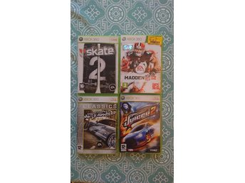 Sport / bilar / Xbox 360 / Madden 12, Need 4 speed most wanted, Juiced 2, Skate