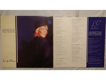 AGNETHA FÄLTSKOG - Eyes of a woman.. AOR.. ABBA.. INNER SLEEVE W LYRICS...