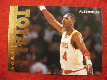 HAKEEM OLAJUWON -  TOTAL D - 1995-96 FLEER  - BASKET